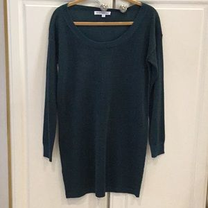 BCBC Generation Dark Teal Long Metallic Sweater